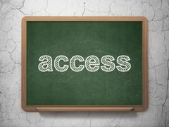 Privacy concept: Access on chalkboard background Stock Illustration