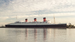 Queen Mary Time Lapse Video Stock Footage