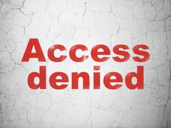 Privacy concept: Access Denied on wall background - stock illustration