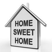 Stock Illustration of home sweet home house means welcoming and comfortable
