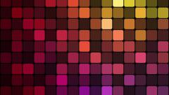 Abstract animation with colorful glowing mosaic pattern. Stock Footage