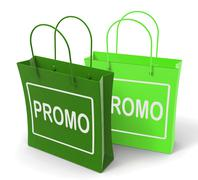 Stock Illustration of promo bags show discount reduction or sale