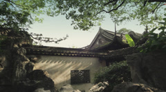 Traditional chinese house in Yuyuan Garden - stock footage