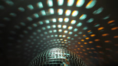 Disco ball with reflection on the wall - stock footage
