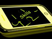 Stock Illustration of skills smartphone means knowledge abilities and competency