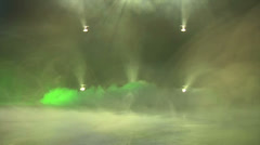 Ground fog effect at disco Stock Footage