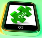 Stock Illustration of quiz smartphone shows exam test or game