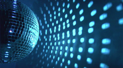 Blue disco background Stock Footage
