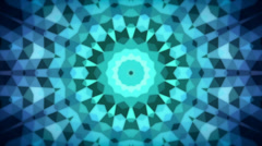 Abstract animation with geometric kaleidoscope pattern Stock Footage
