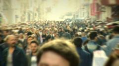 Taksim Square people walks 10 Stock Footage