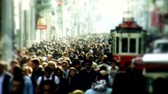 Taksim Square people walks 11 Stock Footage