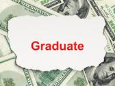 Stock Illustration of Education concept: Graduate on Money background