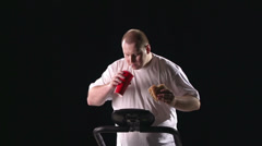 Snack at the Gym - stock footage