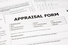appraisal form and paperwork - stock photo