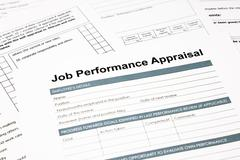 job performance appraisal form for business - stock photo