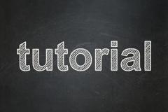 Stock Illustration of Education concept: Tutorial on chalkboard background