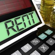 Stock Illustration of rent calculator means paying tenancy or lease costs