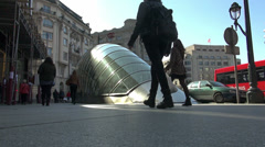 Moyua subway station in Bilbao, Spain. Stock Footage