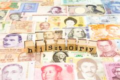 History wording, business and education concept Stock Photos