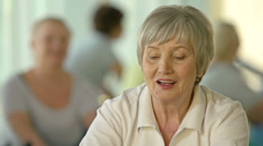 Modern Pensioners Stock Footage