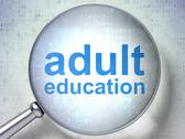 Stock Illustration of Adult Education with optical glass