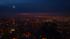 Night to Day Transition os Angeles Morning Cityscape Time Lapse -Tilt Up- Stock Footage
