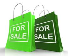 for sale bags represent retail selling and offers - stock illustration