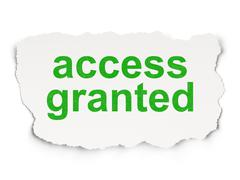 Privacy concept: Access Granted on Paper background Stock Illustration