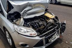 Details of Car in an Accident Stock Photos