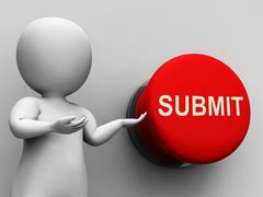 submit button means enter application or document - stock illustration
