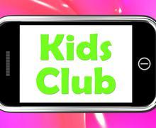 Kids Club puhelimessa tarkoittaa lasten toimintaa Piirros
