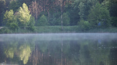 Fishing, nature, water, lake, forest, outdoor Stock Footage