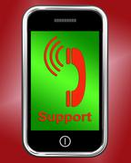 ringing icon on mobile phone shows smartphone call - stock illustration