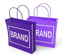 Brand bags show branding product label or trademark Piirros