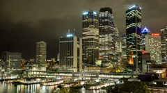 City Quay at Night Stock Footage