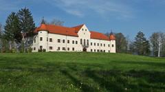 Luznica castle Stock Footage