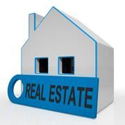 Real estate house means homes or buildings on property market Stock Illustration