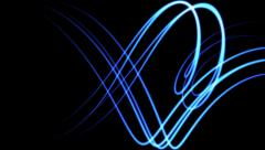 Blue glowing lines in wide curved motion - seamless loop (FULL HD) Stock Footage