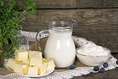 dairy produce - stock photo