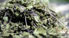Portion of dried mint (loopable video) Stock Footage
