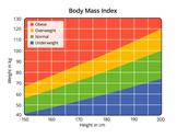 Stock Illustration of body mass index in cm and kg