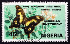 Postimerkki Nigeria 1982 Hesperus Swallowtail Butterfly Kuvituskuvat