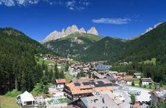 Alba di Canazei, Trentino, Italy - stock photo