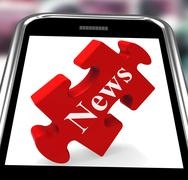 Stock Illustration of news smartphone means web headlines or bulletin