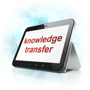 Stock Illustration of Education concept: Knowledge Transfer on tablet pc computer