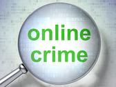Stock Illustration of Protection concept: Online Crime with optical glass