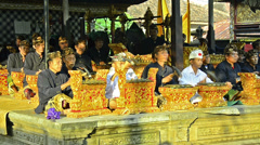 Gamelan orchestra with typical indonesian music Stock Footage