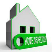 Home inspection house means inspect property thoroughly Stock Illustration