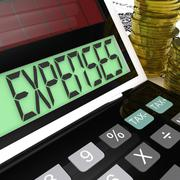 expenses calculator means company costs and accounting - stock illustration