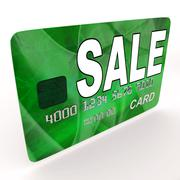 Stock Illustration of sale bank card means retail price reduction